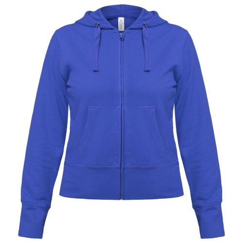 87876088397 Толстовка женская Hooded Full Zip ярко-синяя купить в Перми