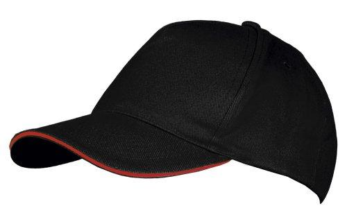 Бейсболка Long Beach, черная с красным купить в Перми, цена в каталоге интернет-магазина